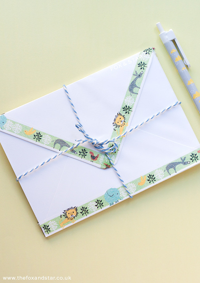 shinzi katoh diy washi tape envelopes