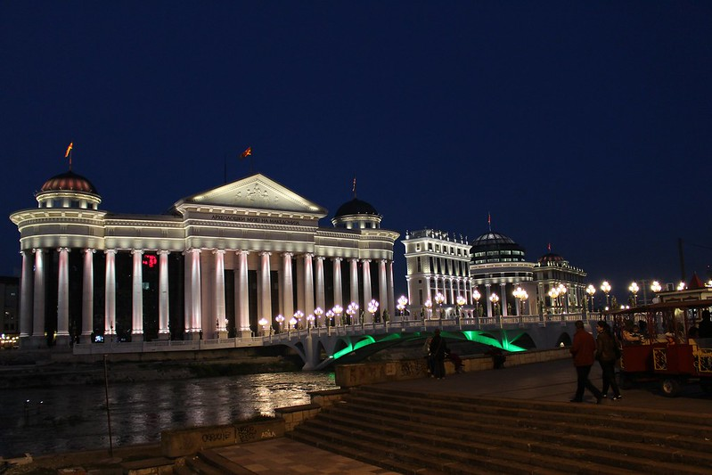 Skopje lighted