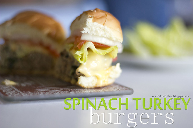 Spinach Turkey Burgers