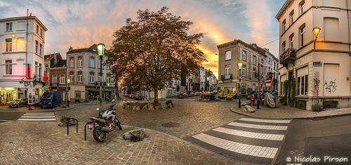 sunset brussels panorama geotagged belgium belgique bruxelles panoramic brussel ixelles panoramique henriconscience lat50831052 lon4371349