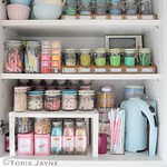 Inside my cake decorating cupboard