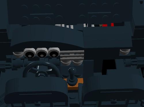 Lego 1990 Mercedes 190E Evo II - Dashboard