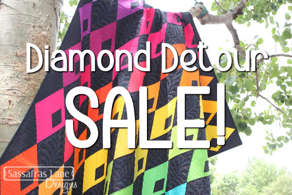 Our Diamond Detour PDF patterns are 25% off this weekend!