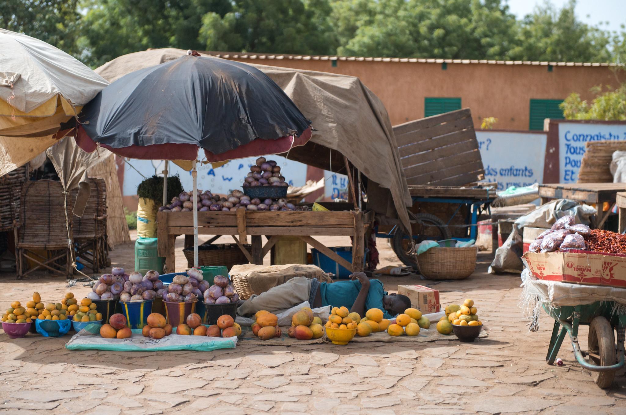 Sleeping Vendor