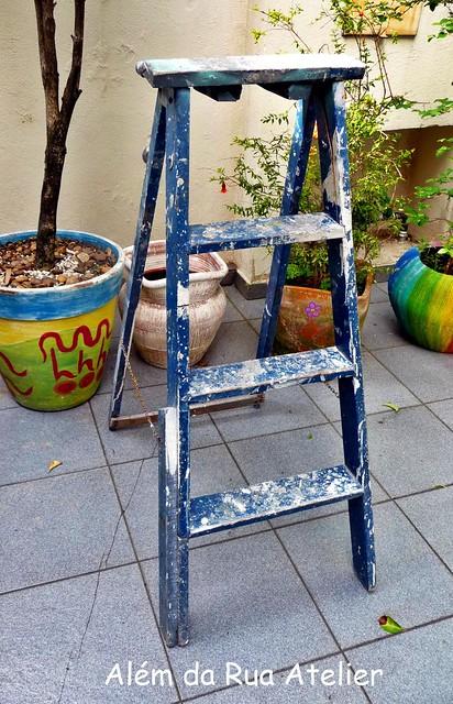 escada antiga reciclagem