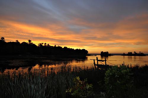 dawn greatlakes lakehuron northchannel olddock algomadistrict jeanpaulphotography ruffledgrousebb