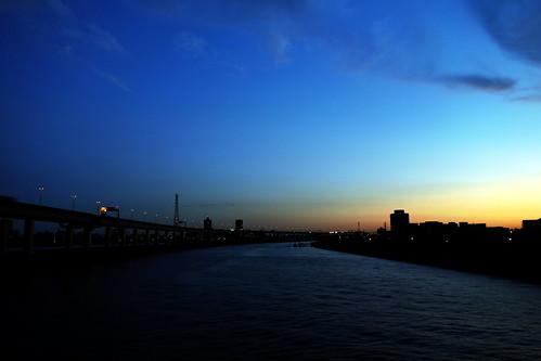The daybreak at Nakagawa