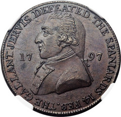 Hampshire. Portsmouth 1-2 Penny Token 1797 obverse