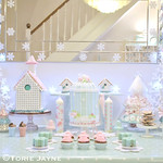 Winter Wonderland Christmas dessert table