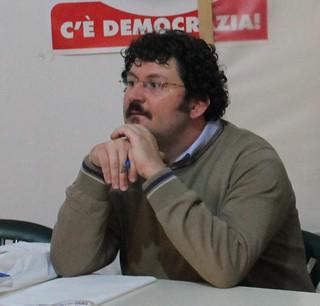 Il segretario del PD, Domenico Scagliusi