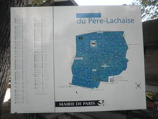 Plano del cementerio del Père-Lachaise