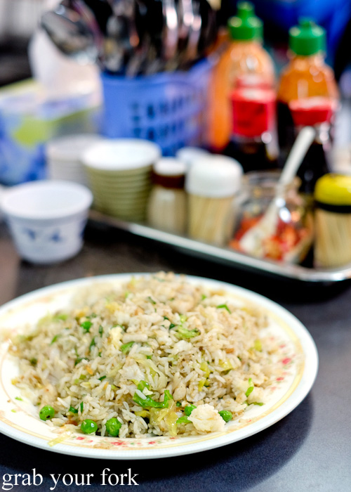 Fried rice with salted fish and chicken at Pho Toan Thang, Flemington