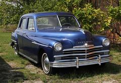 automobile, automotive exterior, vehicle, mid-size car, plymouth deluxe, antique car, sedan, classic car, vintage car, land vehicle, luxury vehicle,