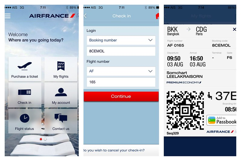 Air France Check-in (Console)