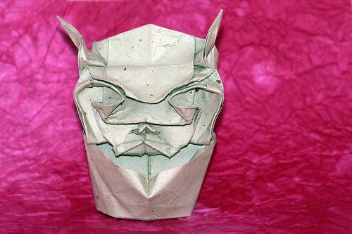 Origami 'Hannya Mask' (Toyoaki Kawai)