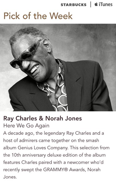 Starbucks iTunes Pick of the Week - Ray Charles & Norah Jones - Here We Go Again