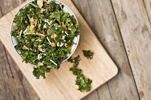 Kale Salad on Board