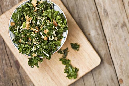 Kale Salad on Board