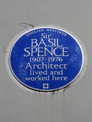 Photo of Basil Spence blue plaque