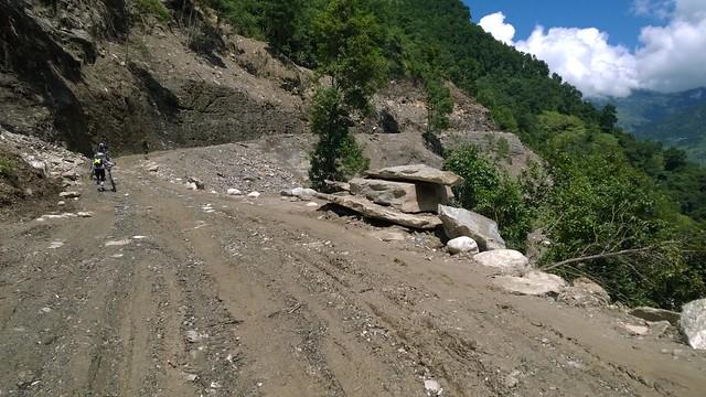 Arniko Highway landslide
