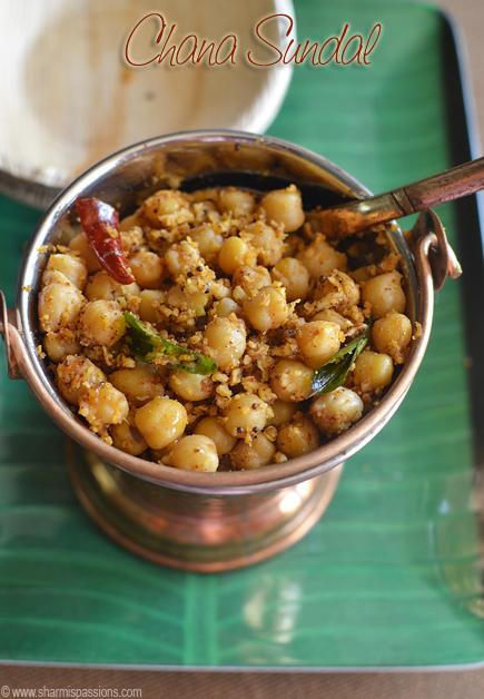 Channa Masala Sundal Recipe