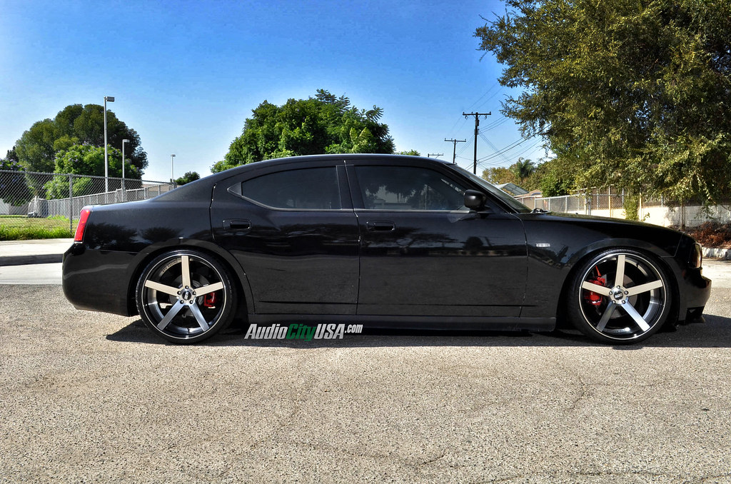 2008 dodge charger 22 str 607 black machine eibach. Black Bedroom Furniture Sets. Home Design Ideas