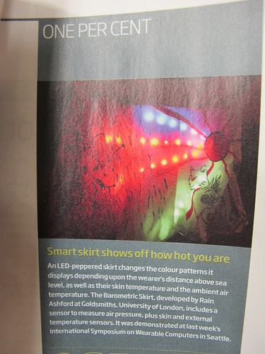 My Barometric Skirt in New Scientist, in Mayday Hosp shop