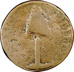 1776 New Hampshire Copper obverse