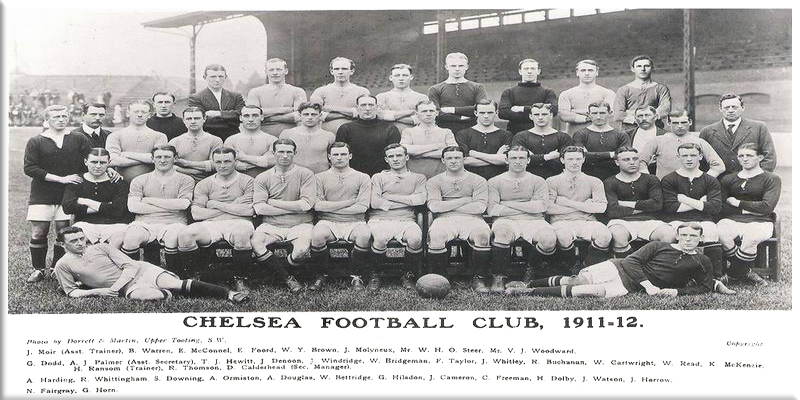 picture of Chelsea FC 1911 to 1912