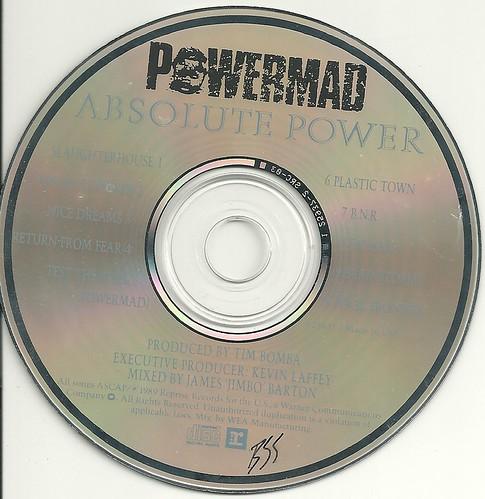 """Powermad """"Absolute Power"""" (1989)(CD)"""