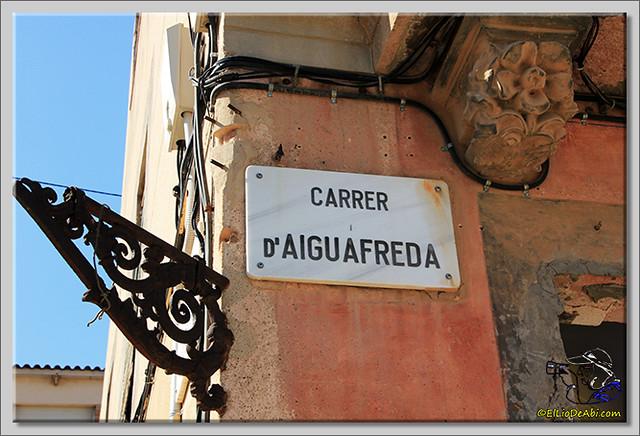 Calle d'Aigüafreda en Barcelona (1)