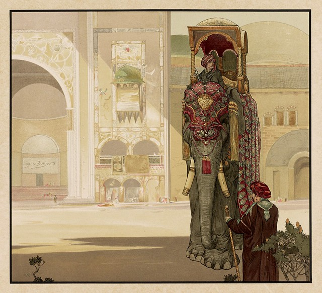 013-Elefante con sus guarniciones-Sixteen illustrations of subjects from Kipling's Jungle Book-1903 -Library of Congress