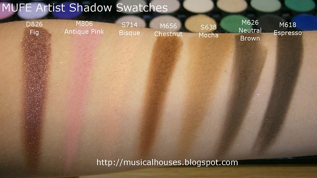 MUFE Artist Shadow Eyeshadow Swatches 2 Row 3