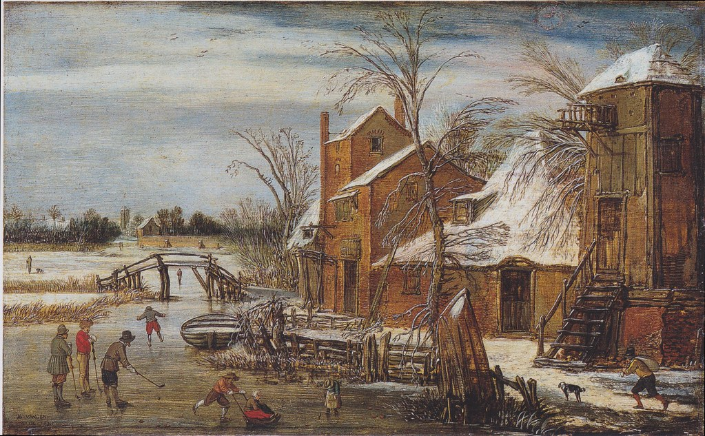 winter-scene-with-skaters-1615 esaias van de velde