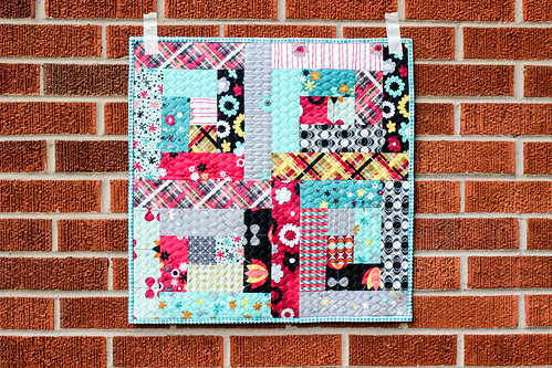 Nordika Logcabin Mini Quilt