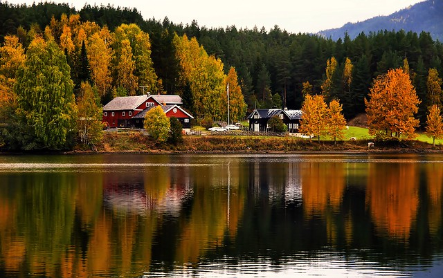 Valdres, Norway. Autumn by Strondafjorden