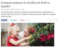 comment préparer le réveillon de Noël en famille - L'Express Style - 10 octobre 2014