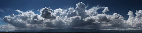 california sky panorama backlight landscape afternoon hills cumulus mountainview backlit couds
