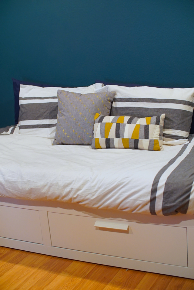 One room challenge week 2 for Brimnes daybed ikea