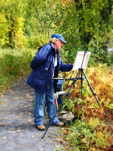 painter along the trail