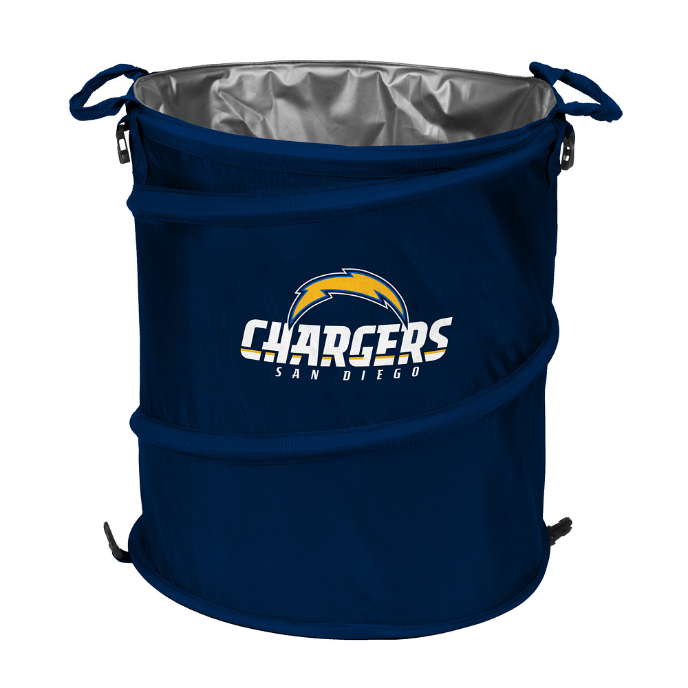 san diego chargers trash can cooler collapsible design for tailgating camping clothes hamper. Black Bedroom Furniture Sets. Home Design Ideas