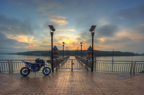 morning sunrise rest jeti shah bandar kuatan