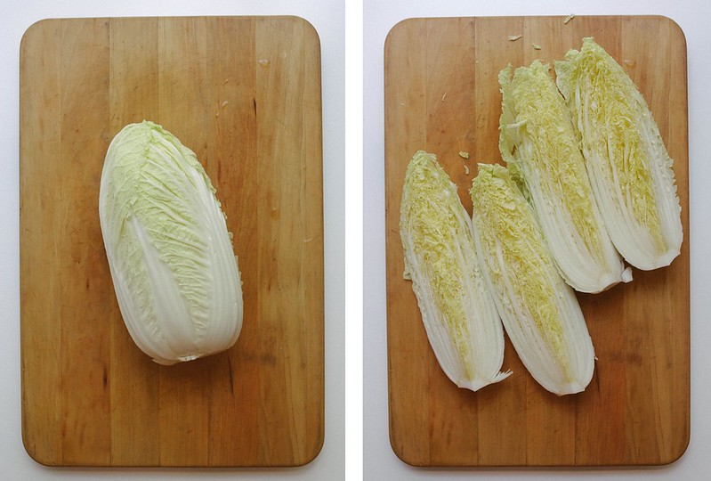 VEGAN KIMCHI: HOW TO SLICE CABBAGE