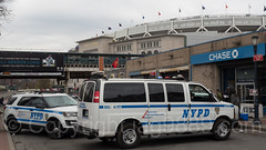 NYPD Police Vehicles at Yankee Stadium, The Bronx, New York City