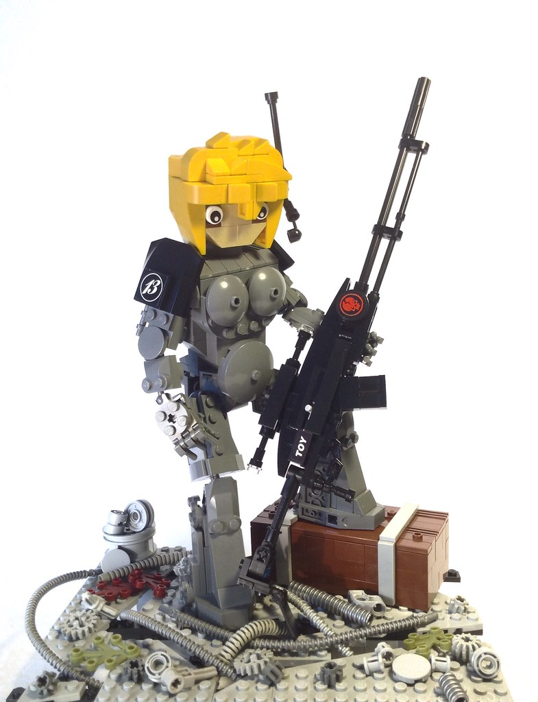 The soldier of Corporation (custom built Lego model)