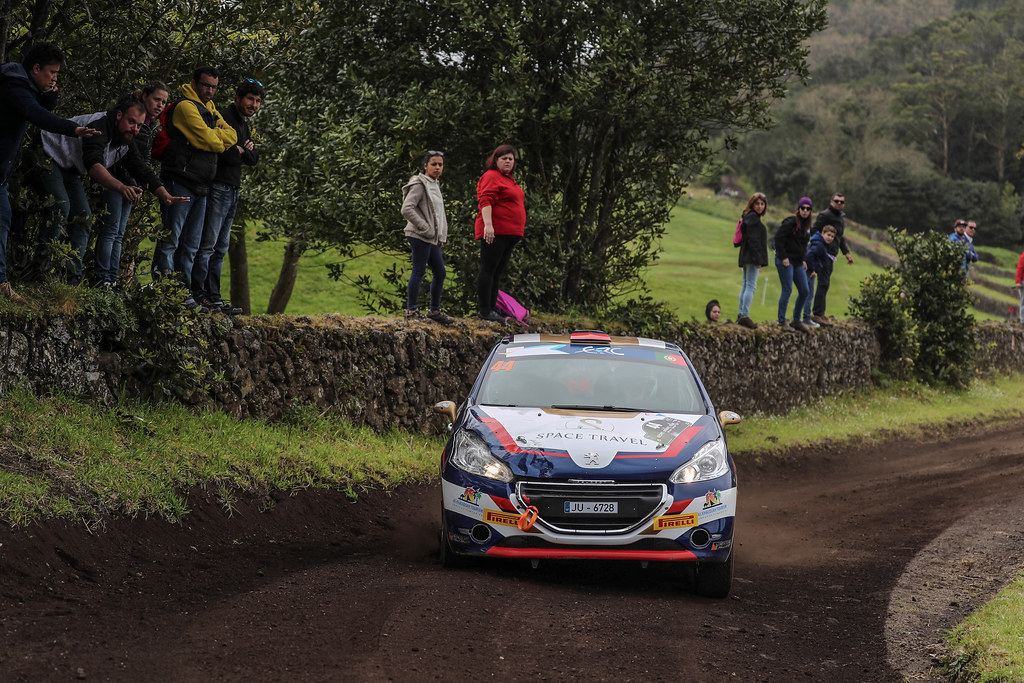 44 MURADIAN  Artur CHELEBAEV Pavel Peugeot 208 R2 Action during the 2017 European Rally Championship ERC Azores rally,  from March 30  to April 1, at Ponta Delgada Portugal - Photo Jorge Cunha / DPPI