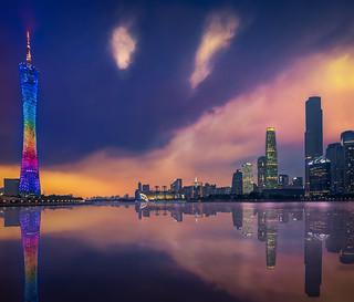 Guangzhou & Sunset