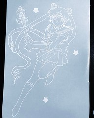 Custom Sailor moon Vinyl Decal 10x6