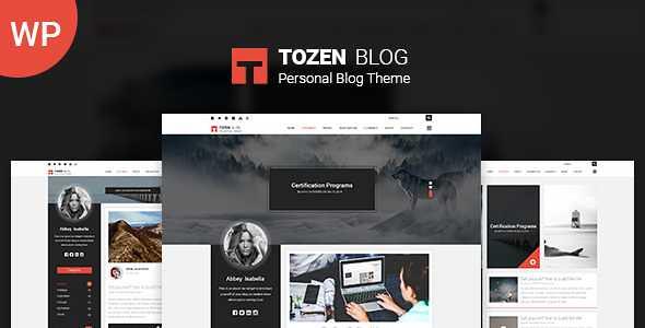 Tozen WordPress Theme free download