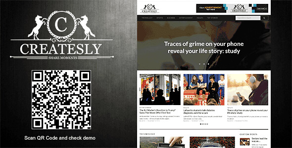 Createsly WordPress Theme free download